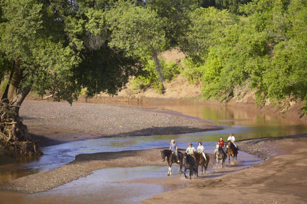 Ride through the African terrain on the Tuli horseback riding holiday in Botswana