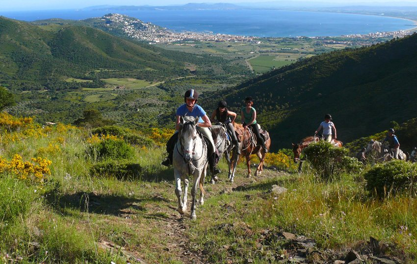 Follow mountain paths on the Mediterranean horse riding holiday in Spain