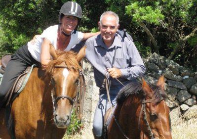 Owner Daniele (R) and guide Illa (L)